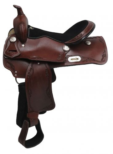 Economy style saddle with tooled accents - #326716