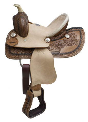 "10"" Double T Youth Roper Style Saddle with Hard Seat - #513510"