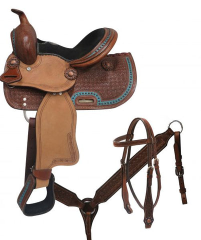 "10"" Double T  Youth/Pony Saddle Set - #786910"