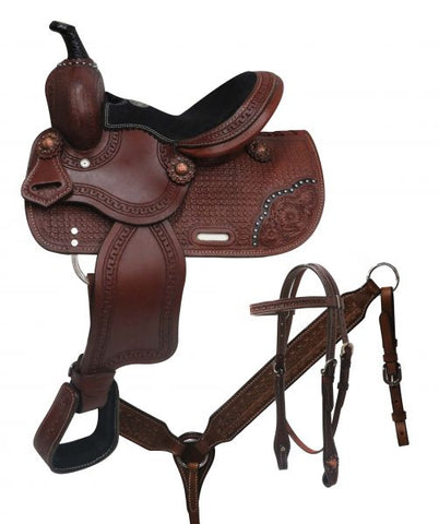 "10"" Double T  Youth/pony Saddle Set - #787010"