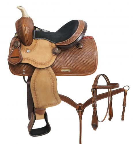 Double T Pony Saddle Set with Basket Tooling - #787210