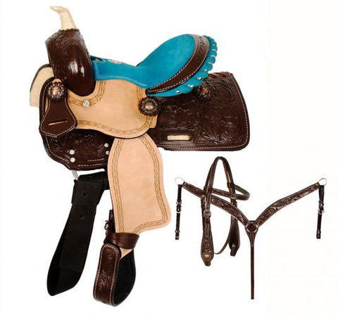 "10"" Double T  Pony saddle set - #787310"
