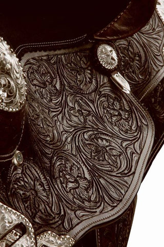 Double T Fully Tooled Show Saddle-#787416