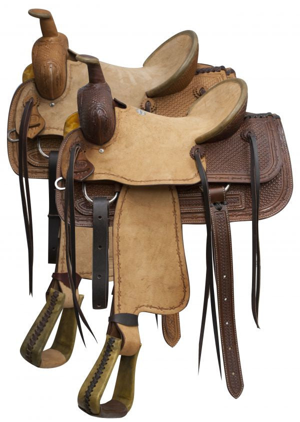 "16"" Blue River Roper Saddle Rough Out Leather - 9601016"