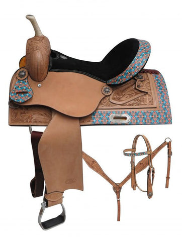 Circle S Barrel Style Saddle Set - 6701