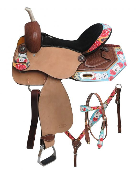 Circle S Barrel Style Saddle Set - 6717