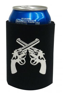 Crossed Guns Drink Koozie - 175925