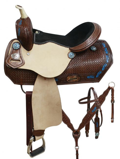 Double T Barrel Style Saddle Set - 7800