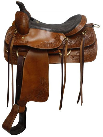 "16"" Double T Pleasure Style Saddle With Top Grain Leather Seat - 615016"