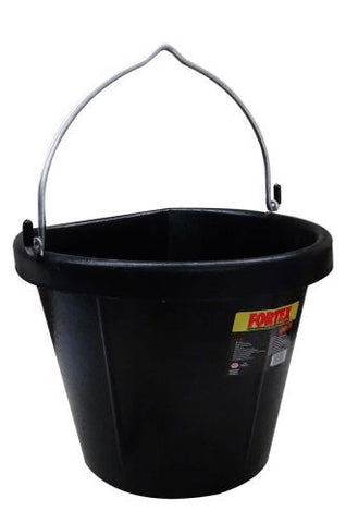 Fortex Flat Back Rubber Bucket - B600-18