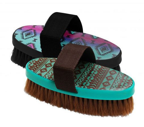 Navajo Print Design Medium Bristle Brush - 72BT003