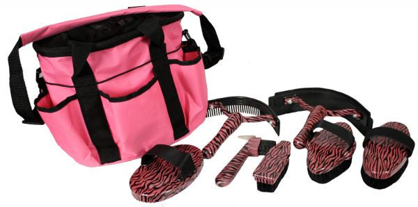 Showman 7 Pieces Grooming Kit Zebra Print - 24004