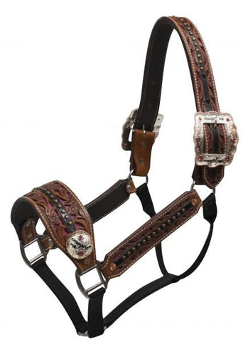 Showman Belt Halter With Conchos And Buckles - 161082