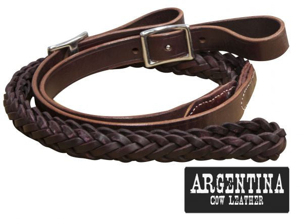 Showman Cow Leather Contest Reins - 19098