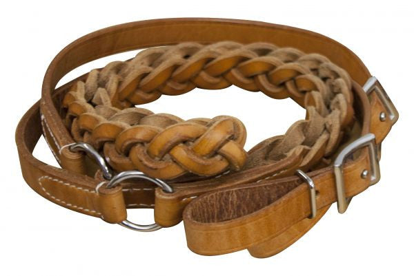 Showman Cow Leather Contest Reins - 19101
