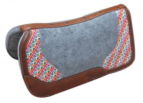 Showman Cow Leather Saddle Pad - 22902
