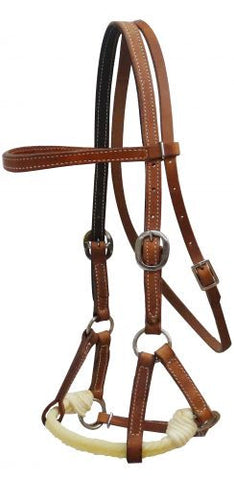 Showman Cow Leather Side Pull - 13194