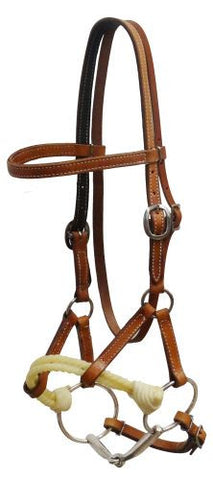 Showman Cow Leather Side Pull With Snaffle - 13021