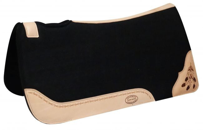 Showman Felt Pad With Cow Leather Trim - 22858