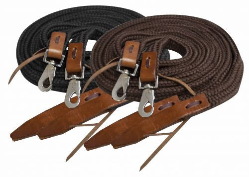 Showman Flat Braided Nylon Reins - 19056