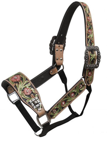 Showman Floral Painted Belt Halter - 161076
