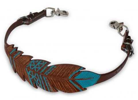 Showman Hand Painted Feather Wither Strap - 19206