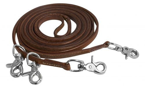 Showman Harness Leather Draw Reins - 5631X
