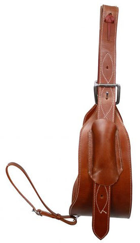 "Showman Heavy Duty 7"" Leather Back Cinch - 14437- Medium"