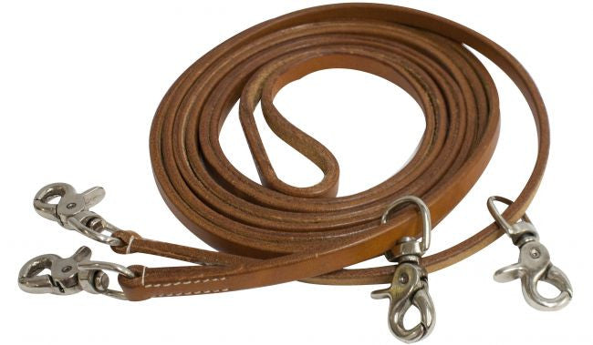 Showman Leather Draw Reins - 19070