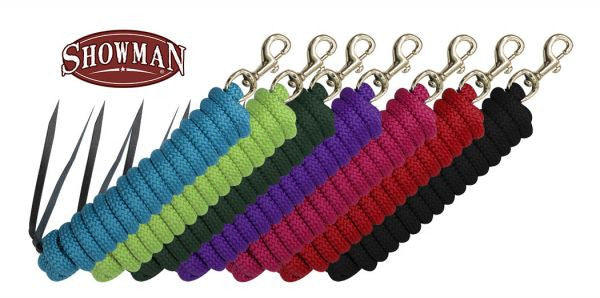 Showman Leather End Nylon Pro Braid Training Lead - 522082-2C