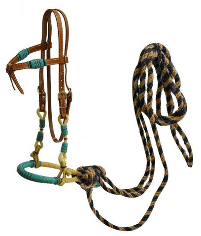 Showman Leather Futurity Know Headstall - 13175