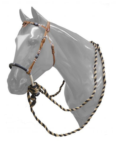 Showman Leather Futurity Know Headstall With Bosal - 6091