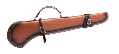 Showman Leather Gun Scabbard With Scalloped Trim - 176144