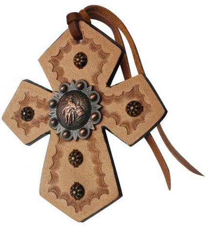 Showman Leather Tie On Cross - 175547