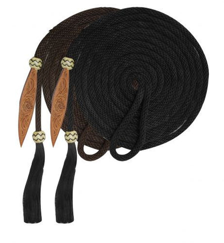 Showman Mecatie Reins With Horse Hair Tassle - 175563