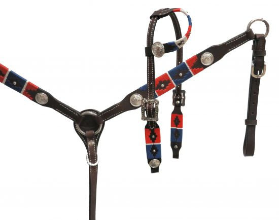 Showman Pony Wrap Embroidered Headstall - 13660