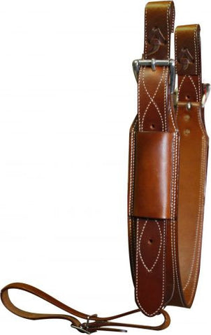 "Showman Premium Leather 3"" Wide Leather Back Cinch - 14447"
