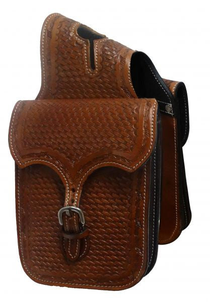 Showman Tooled Leather Horn Bag - HB-02