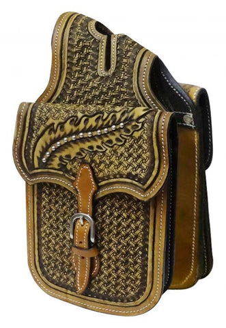 Showman Tooled Leather Horn Bag - HB-03
