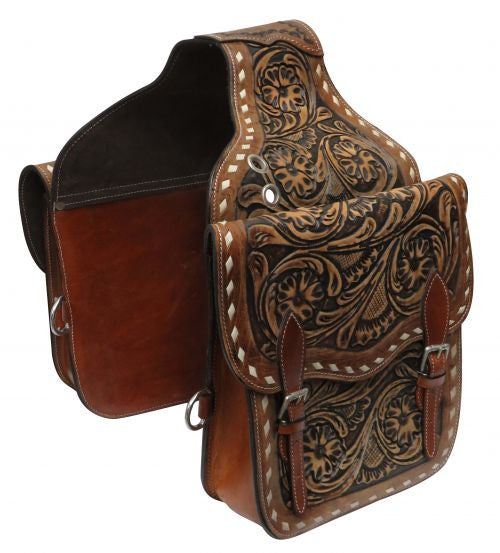 Showman Tooled Saddle Bag - SB-58