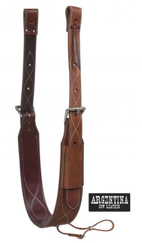 "Showman 3"" Wide Argentina Cow Leather Back Cinch - 14448"