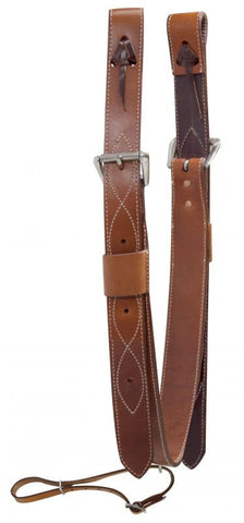 "Showman 2"" Wide Leather Back Cinch - 175582"