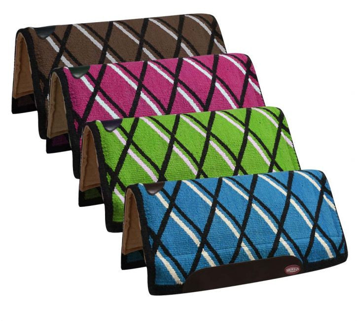 Showman Woven Wool Top Thick Saddle Pad - 6230