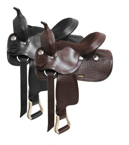 Western Style Saddle With Suede Leather Seat - 326713