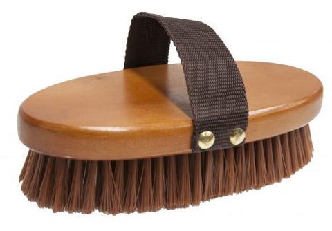 Wooden Oval Base and Nylon Hand Strap Brush - 72G1001