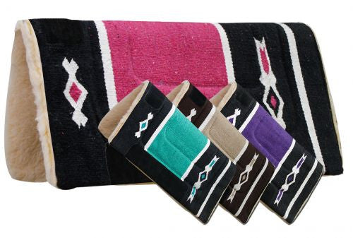 Woven Acrylic Top Saddle Pad with Navajo Design - 6069