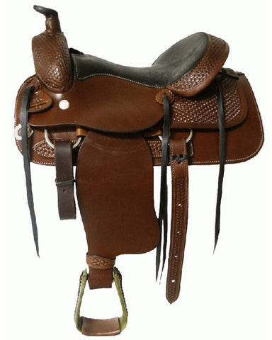 Blue River Top Grain Leather Roping Saddle - #96070