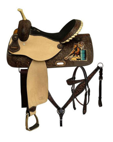 Circle S Barrel Saddle Set - #6649