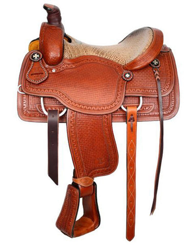 Circle S Roping Saddle - #6402
