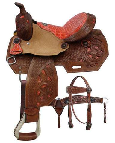 Double T Barrel Saddle Set - #7017